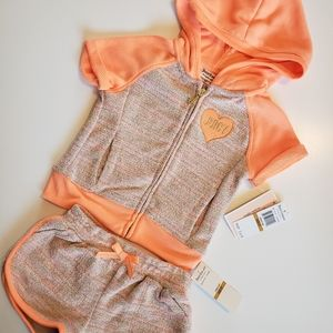 NWT juicy Couture shorts track set